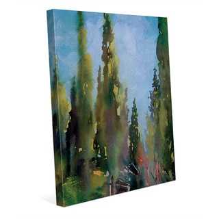 'Watercolor Trees' Gallery-wrapped Canvas Wall Art Print
