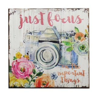 'Just Focus' Inspirational Wall Plaque