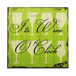 'It's Wine O'Clock' Inspirational Wall Plaque
