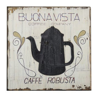 'Buona Vista Coffee' Inspirational Wall Plaque