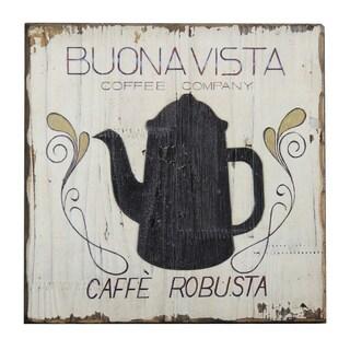 'Buona Vista Coffee' Inspirational Wall Plaque