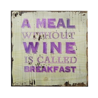 'A Meal Without Wine' Inspirational Wall Plaque