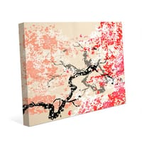 'Red Cherry Blossom' Canvas Abstract Wall Art