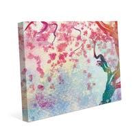 Cerise Petals Falling Canvas Wall Art Print