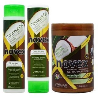 Novex Coconut Oil 10.14-ounce Shampoo, Conditioner Cream Treatment