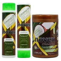 Novex Coconut Oil 10.14 oz. Shampoo, Conditioner and 1kg Cream Treatment