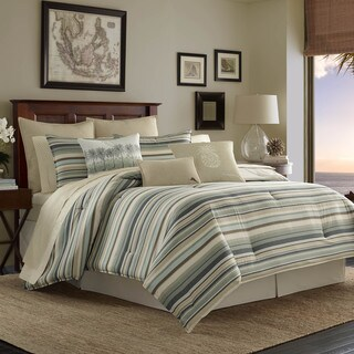 Tommy Bahama Canvas Stripe Comforter Set (As Is Item)