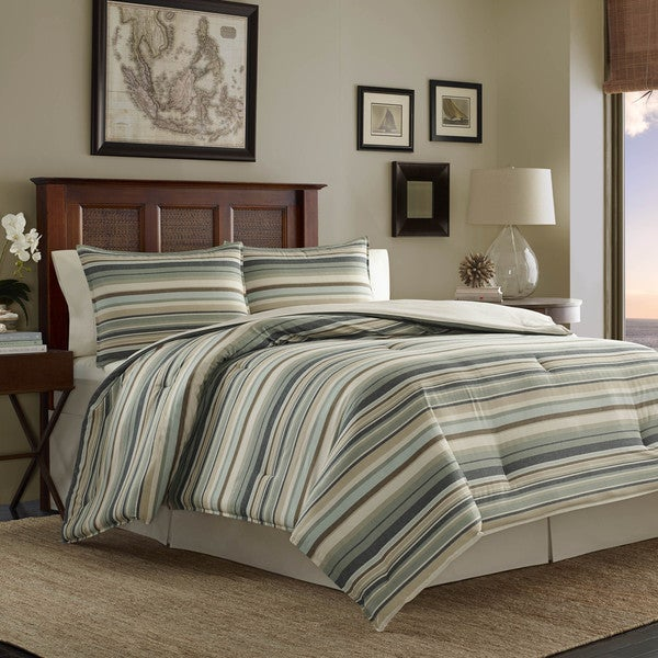 Tommy Bahama Canvas Stripe Comforter Set - Free Shipping Today ...