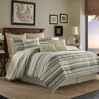 Tommy Bahama Canvas Stripe Duvet Cover Set