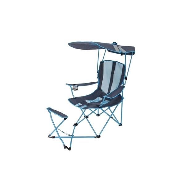Original Canopy Chair Ottoman Blue Grey