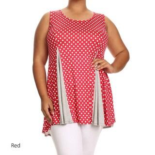 Women's Plus Size Sleeveless Polka Dot Tank Top