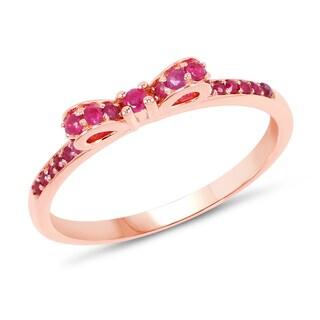 Malaika 14k Rose Gold 1/3ct TGW Ruby Ring