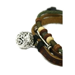 Sepia Soft Brown Leather Essential Oil Diffuser Bracelet