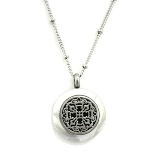 """""""Allure"""" 316L Stainless Steel Essential Oil Diffuser Necklace (18 inches)"""