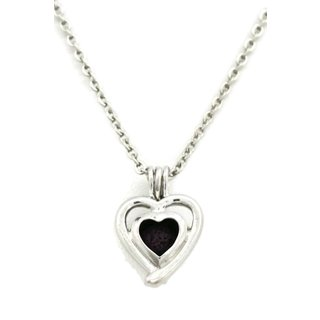 Beloved Silver Heart Essential Oil Diffuser 18-inch Necklace