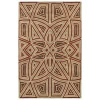Hand-Tufted Lola Mosaic Rust Glass Wool Rug - 8' x 11'