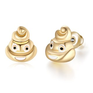 Etcbuys 18kt Gold Plated Emoji Earrings for Women
