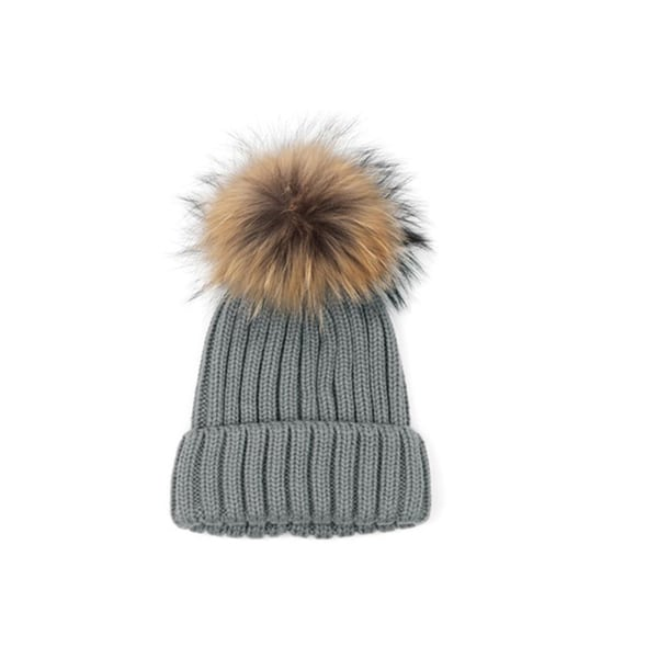 eb4a05a67ed Shop Women s Faux-fur Knitted Pompom Hat - Ships To Canada ...