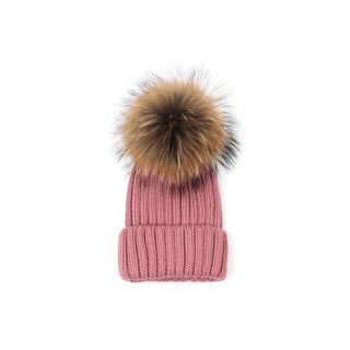 Etcbuys Women's Faux-fur Knitted Pompom Hat