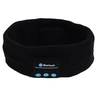 Etcbuys Unisex Black Bluetooth Headband with Earphones Speaker and Hands-free Mic