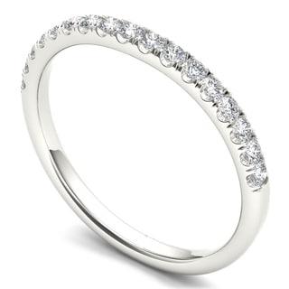 De Couer 14k White Gold 1/4ct TDW Diamond Women's Wedding Band