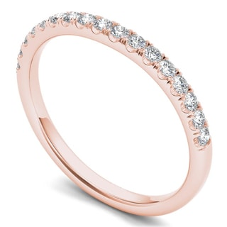 De Couer 14k Rose Gold 1/8ct TDW Diamond Women's Wedding Band (H-I, I2)