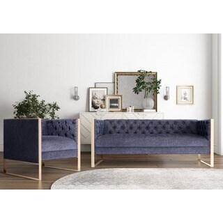 Farah Navy Living Room Set
