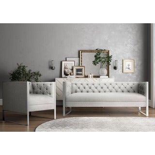 Farah Light Grey Living Room Set