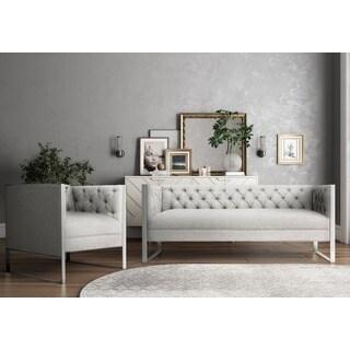 Farah Light Grey Living Room Set