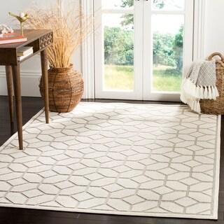 Safavieh Cottage Light Grey / Cream Area Rug (5'3 x 7'7)