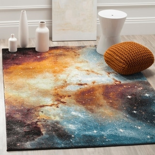 Safavieh Galaxy Orange / Multi Area Rug (6'7 x 9')