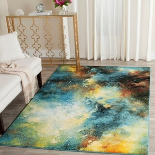 Safavieh Galaxy Blue / Multi Area Rug (6'7 x 9')