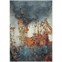 Safavieh Glacier Abstract Watercolor Blue/ Multi Area Rug - 6' 7 x 9'
