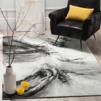 Safavieh Glacier Contemporary Abstract Grey / Multi Area Rug - 6' 7 x 9'