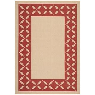Safavieh Martha Stewart Creme / Red Area Rug (5'3 x 7'7)