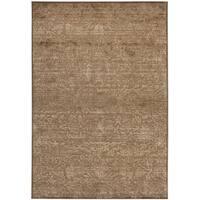 Martha Stewart by Safavieh Heritage Bloom Soft Anthracite/ Camel Viscose Rug - 6'7 x 9'2