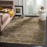 "Safavieh Porcello Modern Dark Grey/ Yellow Area Rug - 5'2"" x 7'6"""