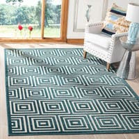 Safavieh Cottage Cream / Turquoise Area Rug - 8' x 11'2