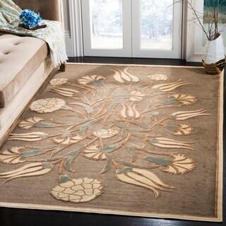 Martha Stewart by Safavieh Floral Arabesque Brown Area Rug (8' x 11'2)