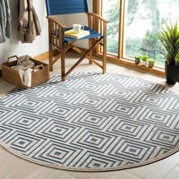 Safavieh Cottage Light Blue / Cream Area Rug - 6'7 Round