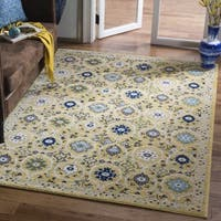 "Safavieh Evoke Vintage Gold/ Ivory Distressed Rug - 6'7"" x 6'7"" square"