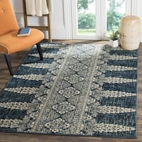 Safavieh Evoke Vintage Royal Blue/ Ivory Distressed Rug - 6'7 Square