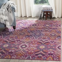 Safavieh Madison Abstract Boho Fuchsia/ Multi Rug - 6'7 Square