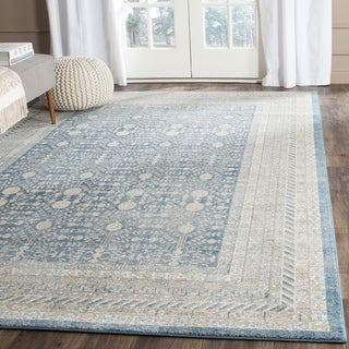 Safavieh Sofia Vintage Blue/ Beige Distressed Area Rug (6'7 Square)
