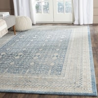 Safavieh Sofia Vintage Blue/ Beige Distressed Area Rug - 6'7 Square