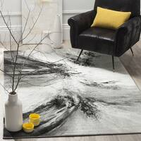 Safavieh Glacier Contemporary Abstract Grey / Multi Area Rug - 6' 7 Square