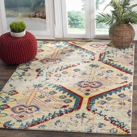 Safavieh Watercolor Light Yellow / Blue Area Rug - 6'7 Square