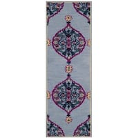 Safavieh Bellagio Handmade Boho Medallion Blue/ Multi Wool Runner Rug - 2'3 x 7'