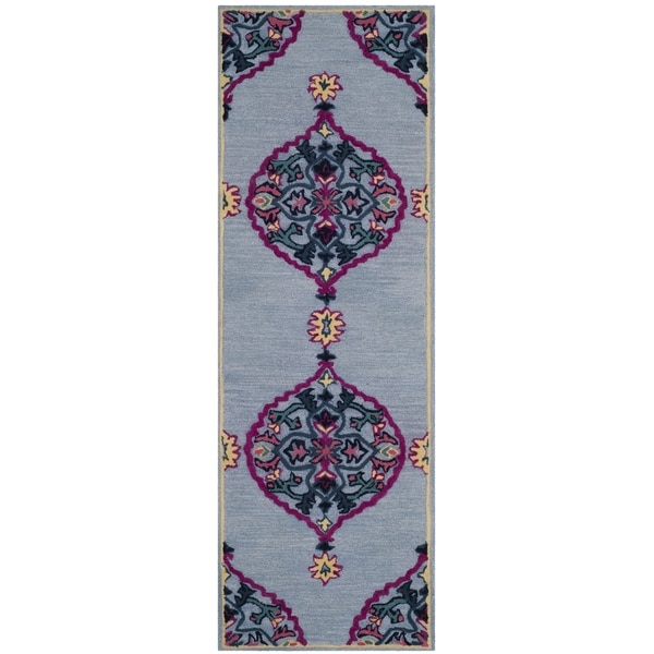 Safavieh Bellagio Hand-Woven Wool Blue / Multi Area Rug Runner - 2'3 x 7'