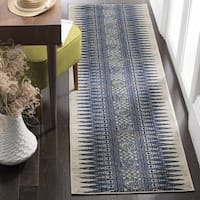 Safavieh Evoke Vintage Boho Chic Ivory / Blue Distressed Runner Rug - 2'2 x 7'
